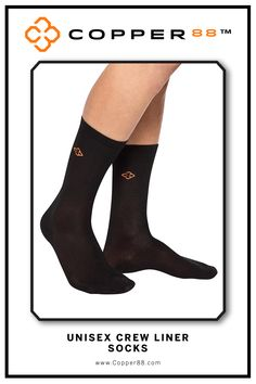 These convenient and supportive crew socks are form fitting and aid in performance and recovery time. Comfortably worn during exercise, daily activities and rest. Super-fast wicking keeps garments dry. Antibacterial and anti-odour properties will keep you feeling and smelling fresh. Copper88™ fabric attributes are inherent in all our garments and will last for as long as you own our products.