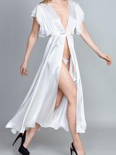 Gilda & Pearl Dahlia chiffon ruffle sleeve gown