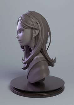 Art Culture in Japan & Stylized Characters 3d Model Character, Character Design Girl, Character Modeling, Character Art, 3d Modeling, 3d Figures, Anime Figures, Zbrush Hair, Zbrush Models