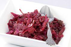 A simple Slow-cooked red cabbage with cranberries recipe for you to cook a great meal for family or friends. Buy the ingredients for our Slow-cooked red cabbage with cranberries recipe from Tesco today. Sauteed Red Cabbage, Red Cabbage Recipes, Braised Red Cabbage, Cooked Cabbage, Vegetarian Roast, Vegetarian Recipes, Cabbage Side Dish, Sweet And Sour Cabbage, Tesco Real Food