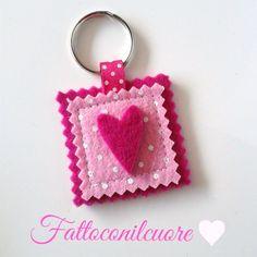 portachiavi rosa a pois , by fattoconilcuore, 3,00 € su misshobby.com
