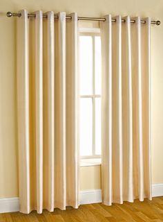 Eyelet curtain heading