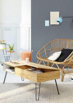 Décoration scandinave / Scandinavian Home / Tables basses rectangulaires: 10 idées déco pour meubler son salon - Marie Claire Maison