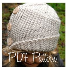 Knitting PATTERN-The Piper Cloche' Toddler Child Adult