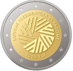 Letland 2 Euro 2015 EU Voorzitter