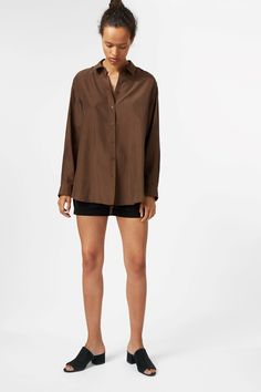 Weekday image 2 of Queen Silk Blouse in Brown Light