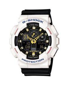 c49a45c9883c G-Shock White and Black XL Ana Digi Watch G Shock Watches