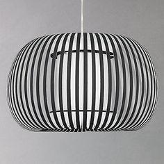 Buy John Lewis Harmony Ribbon Pendant, Black, Small Online at johnlewis.com