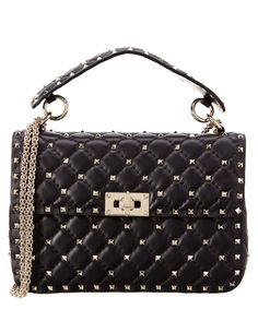 88573359fea8 Valentino Valentino Rockstud Spike Small Leather Chain Shoulder Bag