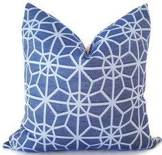 Blue Pillows - Outdoor Pillows - Sunbrella Pillows - Decorative Pillow Covers…