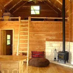 Beautiful Cedar Cabin - eclectic - living room - austin - Kara Mosher Source by izzytz Tiny Cabins, Tiny House Cabin, Cabins And Cottages, Tiny House Living, Tiny House Plans, Cabin Homes, Log Homes, Small Cabin Plans, Small Log Cabin