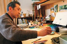 Kazuo Oga is the man behind most of background drawings of Ghibli's studio movies