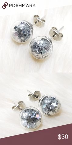 Wishing Gl 8mm Silver Stars Plated Welcome One Of The Kind Elegant