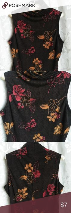 Axcess Top Axcess Liz Claiborne Top - ***Size XL, Brown background with shades of orange printed flowers. In great condition. Length 23 inches long Width 21 1/2 across  Smoke Free Environment.....   Thank you for stopping to look at my closet!! Axcess Tops