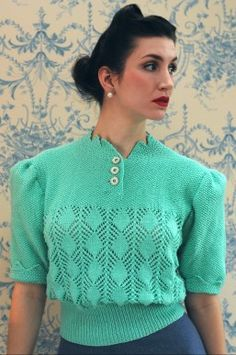 To Wear With A Summer Suit by Susan Crawford Vintage Knitting, via Flickr