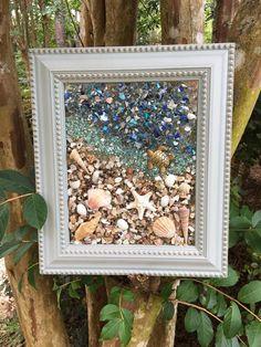 Beach Glass Window Art/Sea Turtle/Beachscape/Beach Resin Art/Beach Glass Art/Seashell Art/Starfish B