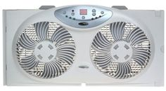 Bionaire Twin Reversible Airflow Window Fan with Remote Control. Fits most double-hung and slider windows. Cheap Windows, Best Windows, Window Fans, Kitchen Exhaust, Kitchen Reviews, Amazon Prime Day, Best Fan, Cool Kitchens, Remote