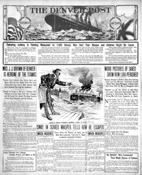 Titanic: Denver Post coverage from 1912 Titanic Sinking, Rms Titanic, Titanic History, Denver Post, April 19, I Remember When, 3 I, Long Time Ago, World History