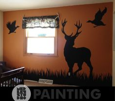 hunting silhouette mural