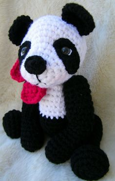 Panda Bear Crochet Pattern PDF Format Teri Crews by WoolandWhims, $4.95