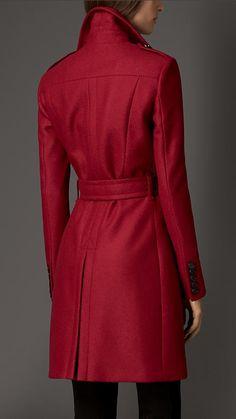 Compact Virgin Wool Military Coat | Burberry London
