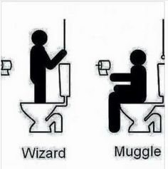 Wizard vs Muggle using the loo or toilet | Harry Potter More