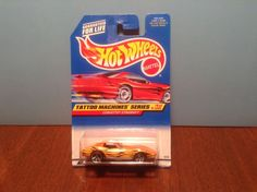 Hot Wheels Corvette Stingray #688 Tattoo Machines #4 of 4 1998 Orange Chevrolet #HotWheels #Chevrolet