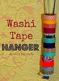 Organize and store your washi tape with a Washi Tape Hanger. This organizer is easy and very cheap to make using items you probably already have.