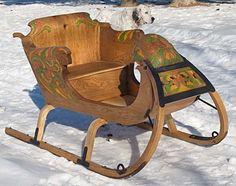 Norsk Wood Works -- handmade sleigh
