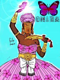 """Onira não é apenas """"Oya com Oshun"""", ela é um Orisa das águas que come com Oya e com Osun, mas foi integrada ao culto de oya. Oya nasceu em Yrá e foi criada em Ketu, portanto há duvidas se Onira seria uma espécie de reencarnação de Iansã ou apenas um orisa próximo. O que se sabe sobre ela é que foi forçada a viver como """"serva"""" de Oshun para que as águas esfriassem e afastassem o seu caráter extremamente violento, e assim é, Onira é a qualidade de Oya mais calma, mas isso se da ao asé de…"""