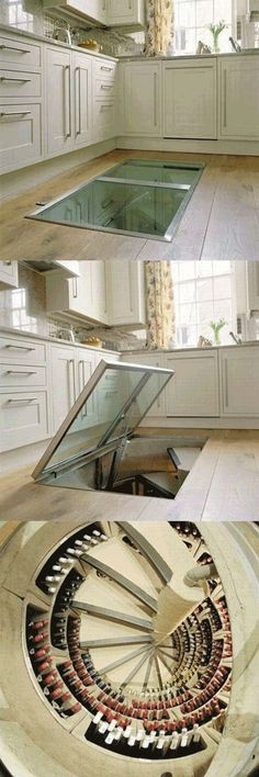 I don't know about a wine cellar, but a root cellar like this would be cool.