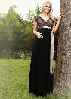 Rosa Maternity Gown Long (Vintage Blush)