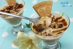 Mousse de nueces con Thermomix Sin Gluten, Cereal, Bakery, Ice Cream, Pudding, Breakfast, Desserts, Food, Sweet Pastries