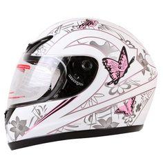 MATTE WHITE PINK BUTTERFLY FULL FACE MOTORCYCLE HELMET DOT (Small) - http://www.caraccessoriesonlinemarket.com/matte-white-pink-butterfly-full-face-motorcycle-helmet-dot-small/  #Butterfly, #Face, #Full, #Helmet, #Matte, #Motorcycle, #Pink, #Small, #White #Helmets, #Motorcycle