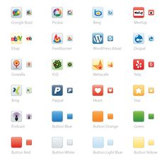 Vector-based social media icons at Icon Dock - scroll down the page for the newest icons!
