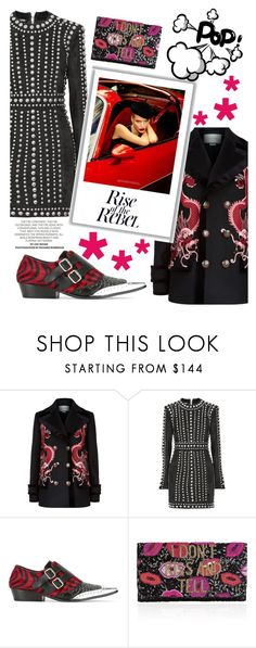 """""""Panther look"""" by belen-cool-look ❤ liked on Polyvore featuring Gucci, Balmain, Haider Ackermann and From St Xavier"""