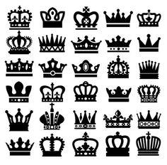 черные иконки Корона