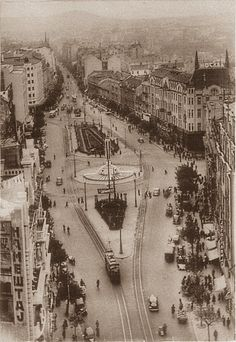 Belgrade in 1937, Terazije in the city centre, Serbia