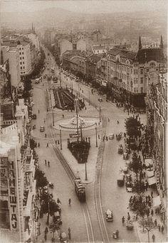 Belgrade in 1937, Terazije in the city centre, Serbia
