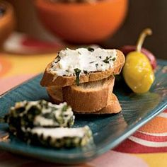 Herbed Goat Cheese - This is a simple make-ahead recipe, ideal for summer entertaining. The longer the cheese refrigerates, the more flavor it absorbs from the herbs. You can leave it to marinate for up to two days. For optimal flavor, let the goat cheese stand at room temperature about 10 minutes before serving..  Print this recipe at AmericanFamily.com.