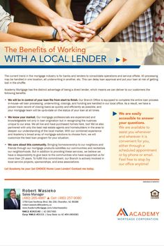 The Benefits of Working with a Local Arizona Lender. Bob Wasieko, Loan Officer at Academy Mortgage, Chandler Branch.