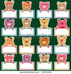 bear text boards set