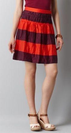 Colorblocked Stripe Skirt, Loft