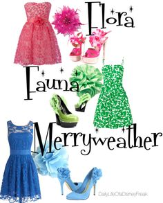 """""""Flora, Fauna & Merryweather"""" by all-you-need-is-love518 on Polyvore"""