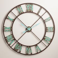 Rustic Teal Wall Clock Teal House Pinterest Pool