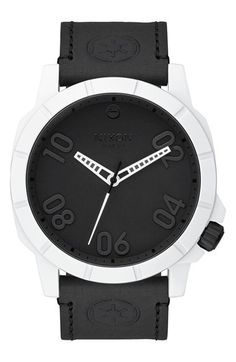 Nixon 'Star Wars - The Stormtrooper' Leather Strap Watch, 45mm available at #Nordstrom