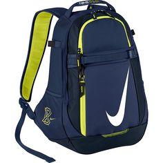 Nike Vapor Select Backpack ($50) ❤ liked on Polyvore featuring bags, backpacks, blue, school & day hiking backpacks, blue bag, pocket bag, strap backpack, knapsack bags and backpacks bags