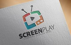 Screen Play Logo by CreativeDezing on @creativemarket