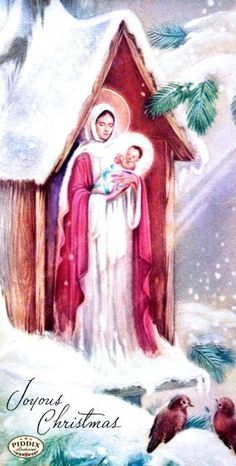 Vintage Christmas illustrations available for product licensing from www.piddix.com. Christmas Manger, Jesus Christ Images, Mary And Jesus, Holy Mary, Madonna And Child, Blessed Virgin Mary, Holy Night, Christmas Illustration, Angel Art