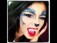 Werewolf/Shewolf make-up tutorial perfect for Halloween